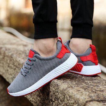 Color Block Knited Sport Shoes - GRAY 39