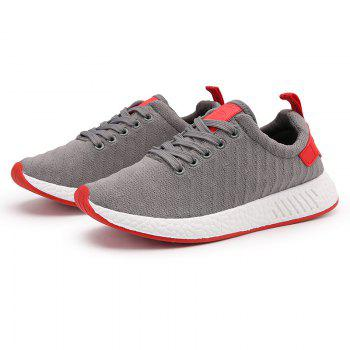 Color Block Knited Sport Shoes - 40 40