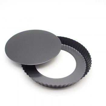Circular Pizza cake Corrugated Pan Baking Molds -  BLACK