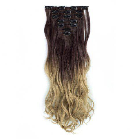 TODO 24inch Curly Ombre Style 7-Piece 16-Clip Hair Extensions - 1 24INCH