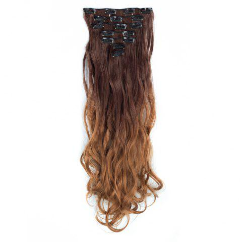 TODO 24inch Curly Ombre Style 7-Piece 16-Clip Hair Extensions - 6 24INCH