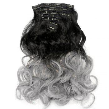 TODO 24inch Curly Ombre Style 7-Piece 16-Clip Hair Extensions - #2 24INCH