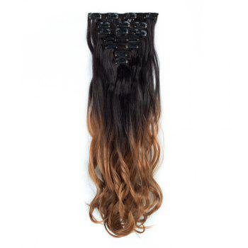 TODO 24inch Curly Ombre Style 7-Piece 16-Clip Hair Extensions - #3