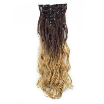 TODO 24inch Curly Ombre Style 7-Piece 16-Clip Hair Extensions - #5