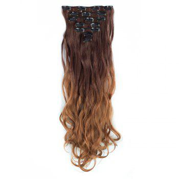 TODO 24inch Curly Ombre Style 7-Piece 16-Clip Hair Extensions - #6