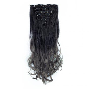 TODO 24inch Curly Ombre Style 7-Piece 16-Clip Hair Extensions - #7