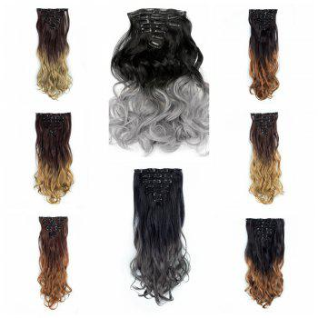 TODO 24inch Curly Ombre Style 7-Piece 16-Clip Hair Extensions -  24INCH