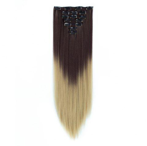 TODO Straight Ombre 7-Piece 16-Clip Clip-in Hair Extensions - 3 22INCH