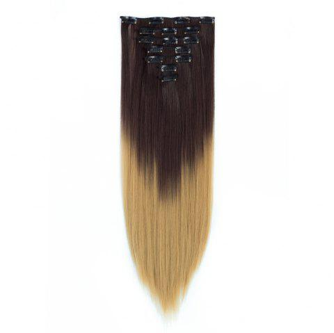 TODO Straight Ombre 7-Piece 16-Clip Clip-in Hair Extensions - 5 22INCH