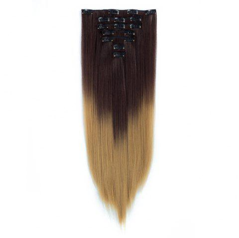 TODO Straight Ombre 7-Piece 16-Clip Clip-in Hair Extensions - 6 22INCH