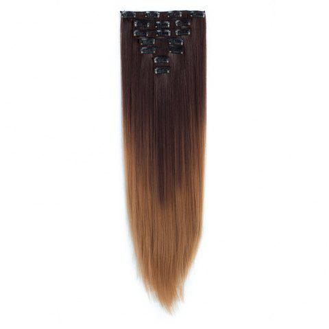 TODO Straight Ombre 7-Piece 16-Clip Clip-in Hair Extensions - 7 22INCH