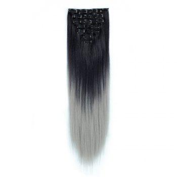 TODO Straight Ombre 7-Piece 16-Clip Clip-in Hair Extensions - #1