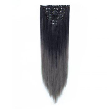 TODO Straight Ombre 7-Piece 16-Clip Clip-in Hair Extensions - #2