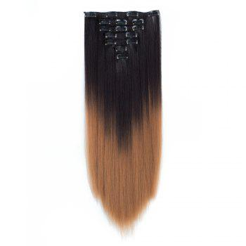 TODO Straight Ombre 7-Piece 16-Clip Clip-in Hair Extensions - #4 22INCH