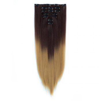 TODO Straight Ombre 7-Piece 16-Clip Clip-in Hair Extensions - #6