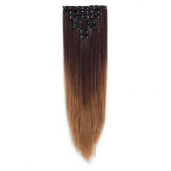 TODO Straight Ombre 7-Piece 16-Clip Clip-in Hair Extensions - #7