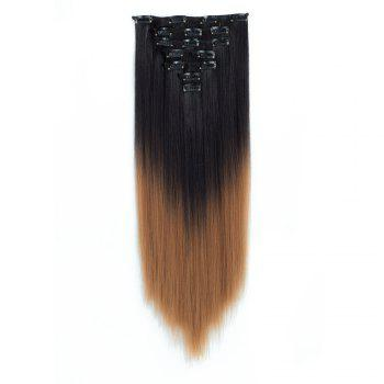 TODO Straight Ombre 7-Piece 16-Clip Clip-in Hair Extensions - #8
