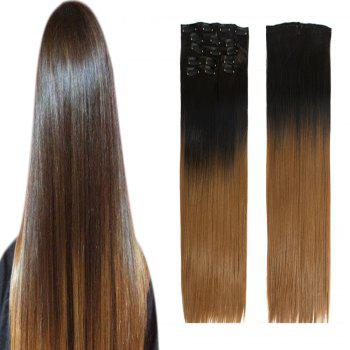 TODO Straight Ombre 7-Piece 16-Clip Clip-in Hair Extensions -  22INCH