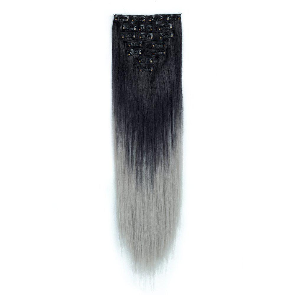 2018 Todo Straight Ombre 7 Piece 16 Clip Clip In Hair Extensions