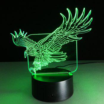 Yeduo 3D Illusion Bulding Night Light Ton Led Lamp Colors Changer Art Sculpture Table Light Produit Unique Dog Ostrich Dragonfly Eagle - multicolorcolore