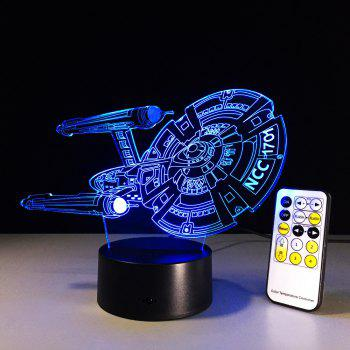Yeduo 3D Battleship Spacecraft Led Illusion Mood Lamp Bedroom Table Lamp Night Light Bulbing Child Kids Friends Man Family Gifts -  COLORMIX