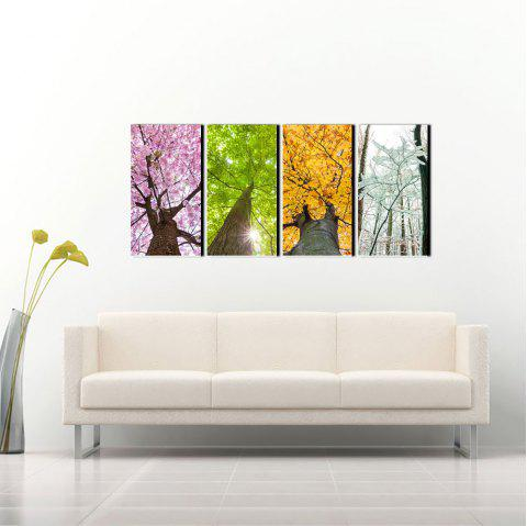 Yhhp Spring Summer Antume And Winter Picture Print Modern Wall Art On Canvas Unframed - COLORMIX