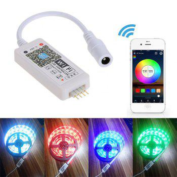 Supli Wifi Smart Controlled LED Strip Light with DC12V Power Supply Waterproof 5050 10m 600LEDs RGB - RGB
