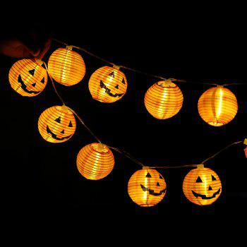 10-LED Halloween Pumpkin String Lights Decorative Colored Lamp - WARM WHITE LIGHT WARM WHITE LIGHT