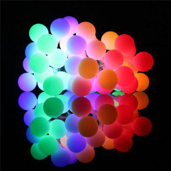 40-LED Grinding White Ball Christmastree String Lights Decorated Colored Lamp -  COLORFUL