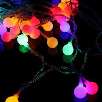 40-LED Grinding White Ball Christmastree String Lights Decorated Colored Lamp - COLORFUL COLORFUL