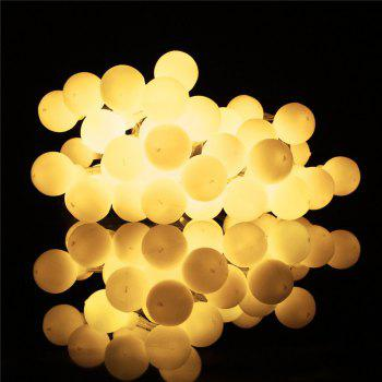 40-LED Grinding White Ball Christmastree String Lights Decorated Colored Lamp - WARM WHITE LIGHT