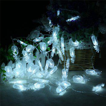 20-LED Pineapple Shaped Christmastree String Lights Decoration Colored Lamp - WHITE WHITE