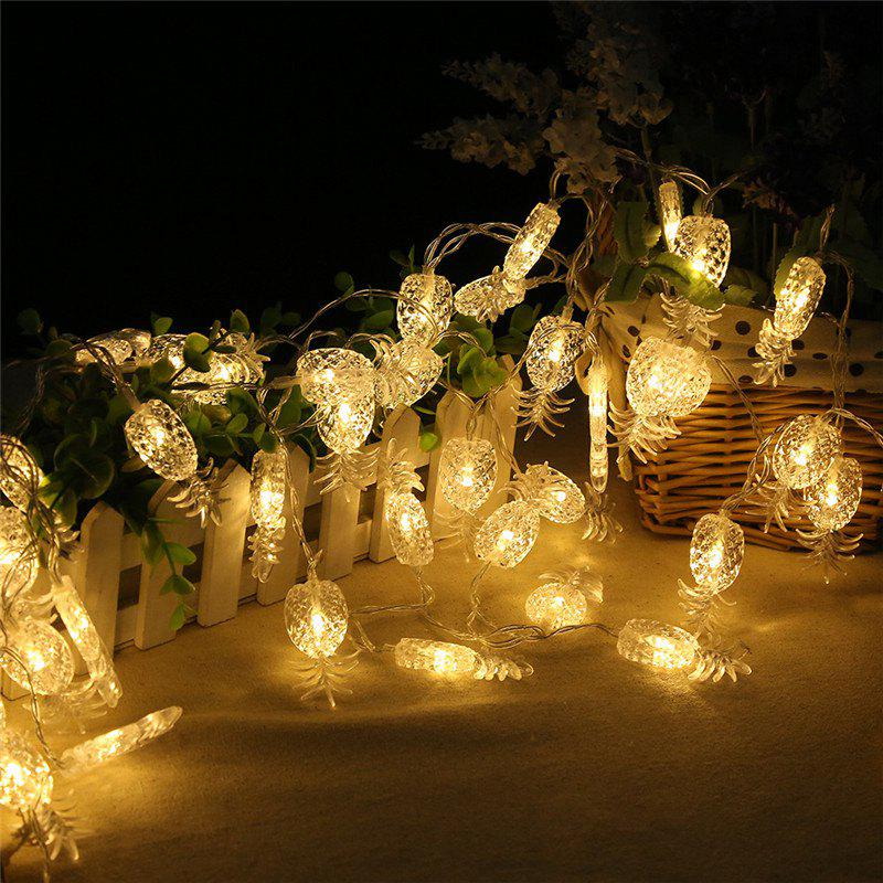 20-LED Pineapple Shaped Christmastree String Lights Decoration Colored Lamp - WARM WHITE LIGHT
