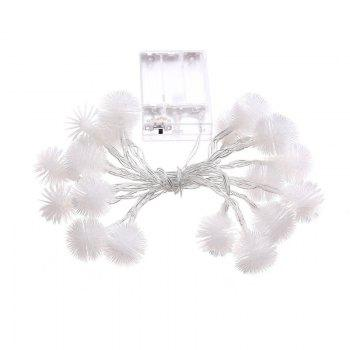 20-LED Dandelion Christmas Tree Shaped String Lights Decoration Colored Lamp - WARM WHITE LIGHT