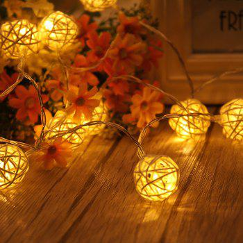 40-LED Thai Rattan Christmas Tree Chandeliers String Lights Decorated Colored Lamp -  WARM WHITE LIGHT