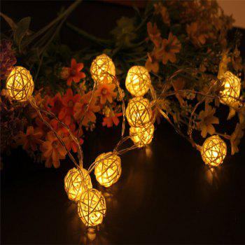 40-LED Thai Rattan Christmas Tree Chandeliers String Lights Decorated Colored Lamp - WARM WHITE LIGHT WARM WHITE LIGHT