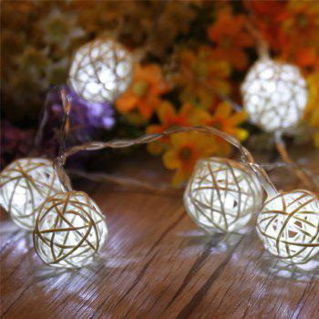 40-LED Thai Rattan Christmas Tree Chandeliers String Lights Decorated Colored Lamp - WHITE WHITE