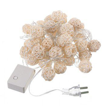 40-LED Thai Rattan Christmas Tree Chandeliers String Lights Decorated Colored Lamp - WHITE