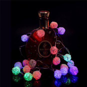40-LED Thai Rattan Christmas Tree Chandeliers String Lights Decorated Colored Lamp - COLORFUL