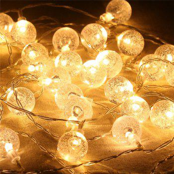 20-LED Bubble Ball en forme d'arbre de Noël String Lights Décoré Lampe colorée - Blanc Chaud