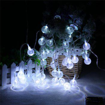 20-LED Bubble Ball Shaped Christmas Tree String Lights Decorated Colored Lamp - WHITE WHITE