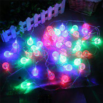 20-LED Bubble Ball Shaped Christmas Tree String Lights Decorated Colored Lamp - COLORFUL COLORFUL