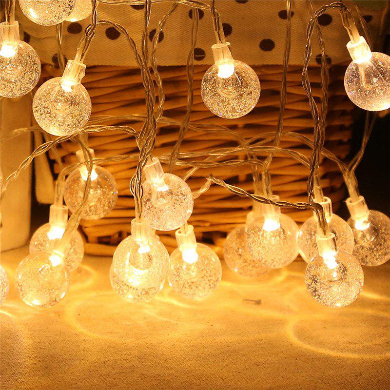 20-LED Bubble Ball Shaped Christmas Tree String Lights Decorated Colored Lamp - WARM WHITE LIGHT