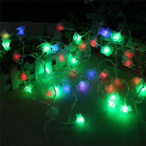 20 led rose christmas tree string lights decoration colored lamp colorful
