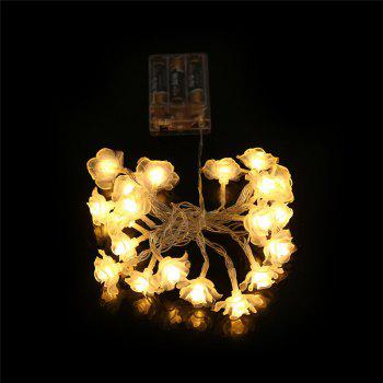 20-LED Rose Christmas Tree String Lights Décoration Lampe de couleur - Blanc Chaud
