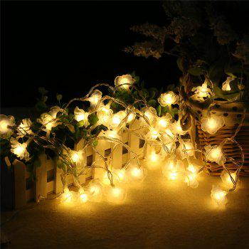 20-LED Rose Christmas Tree String Lights Decoration Colored Lamp - WARM WHITE LIGHT WARM WHITE LIGHT