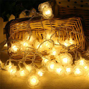 20-LED Rose Christmas Tree String Lights Decoration Colored Lamp -  WARM WHITE LIGHT
