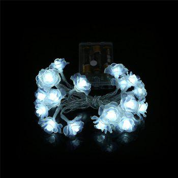 20-LED Rose Christmas Tree String Lights Decoration Colored Lamp -  WHITE