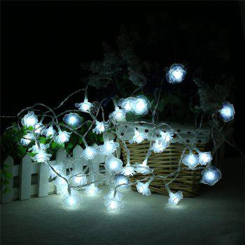 20-LED Rose Christmas Tree String Lights Decoration Colored Lamp - WHITE WHITE