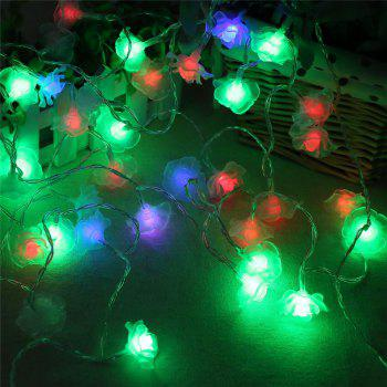 20-LED Rose Christmas Tree String Lights Decoration Colored Lamp - COLORFUL